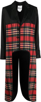 Comme des Garcons Tartan Cut-Out Coat