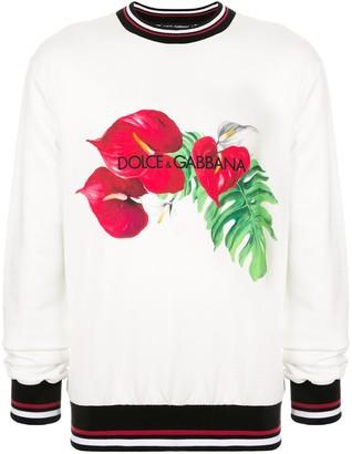 Dolce & Gabbana anthurium print sweatshirt