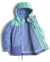 The North Face Toddler Girl's 'Mountain View' Hooded Waterproof Triclimate 3-In-1 Jacket