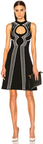 Proenza Schouler Intarsia Circle Cut Out Dress