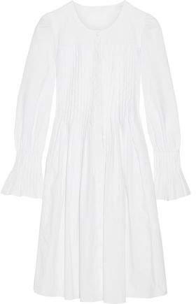 Co Pleated Cotton-Poplin Dress