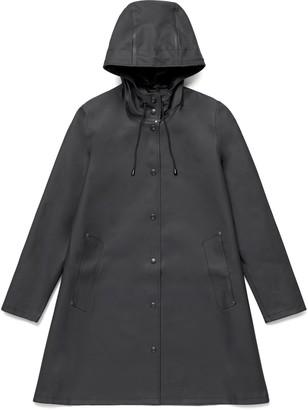 Stutterheim Black Womens Mosebacke Raincoat - S - Black