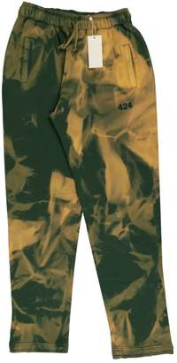Green Cotton 424 Trousers