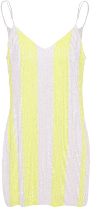 retrofete Claire Neon Sequined Chiffon Mini Dress