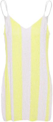 retrofete Sequined Chiffon Mini Dress