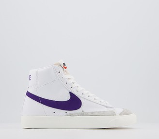Nike Blazer Mid 77 Trainers White Voltage Purple Sail F