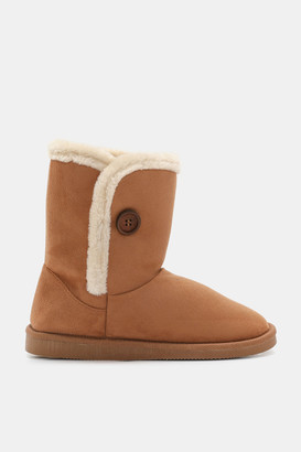 Ardene Faux Suede Mid-Calf Boots - Shoes |
