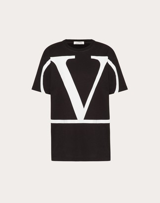 Valentino Vlogo T-shirt Women Black/white Cotton 100% S