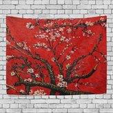 JSTEL Home Fashion Custom Van gogh Apricot Flower Tapestry Wall Decor Living Room, Throw Bedspread, Dorm Tapestries DIY