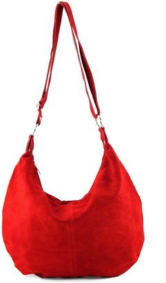 Modamoda De Italian handbag shoulder bag shopper Women's bag real suede leather bag T02