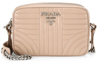 Prada Small Diagramme Leather Camera Bag