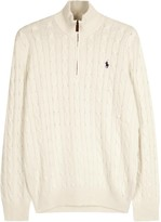 Polo Ralph Lauren Ivory Cable-knit Silk Jumper