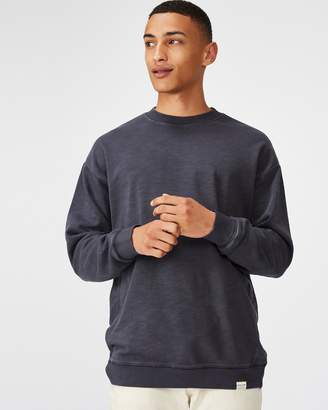 Cotton On Pigment-Dyed Oversized Crew Sweater