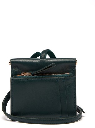 Gabriela Hearst Maria Mini Leather Necklace Bag - Dark Green