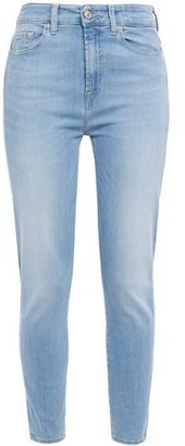 7 For All Mankind Aubrey Faded High-rise Skinny Jeans