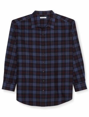 Amazon Essentials Men's Big & Tall Long-Sleeve Plaid Flannel Shirt