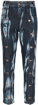 Delada Tie-Dye Straight-Leg Jeans