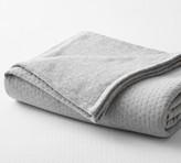 Pottery Barn Reversible Knit Cotton Blanket