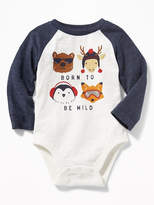 "Old Navy ""Born to Be Wild"" Raglan Bodysuit for Baby"