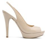 MANGO TOUCH - Patent sling back peep-toe shoes