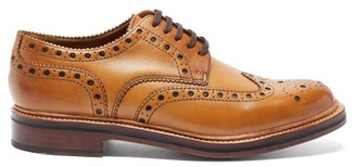 Grenson Archie Leather Brogues - Mens - Tan