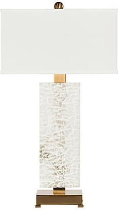 Bradburn Home Fire & Ice Table Lamp - White Alabaster