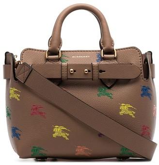 Burberry The Mini Equestrian Knight Leather Belt Bag