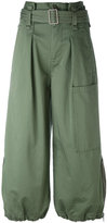 Marc Jacobs belted cargo culotte trousers - women - Cotton - 2