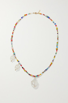 Éliou eliou - Paxi Gold-tone, Pearl And Bead Necklace - one size