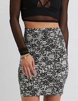Charlotte Russe Printed Bodycon Mini Skirt