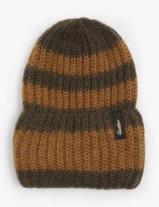 Borsalino Striped mohair beanie