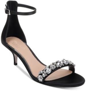 Badgley Mischka Dash Kitten-Heel Evening Sandals Women's Shoes