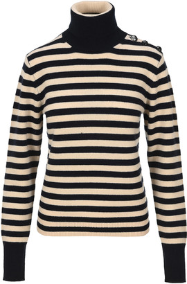 Chloé High Neck Cashmere Stripe Jumper