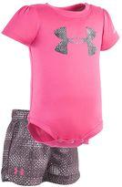 Under Armour Baby Girl Logo Graphic Bodysuit & Striped Shorts Set