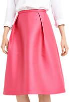 Oasis Satin Twill Midi Skirt, Bright Pink