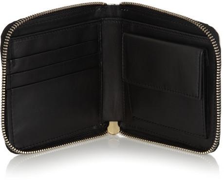 Marni Metallic leather wallet