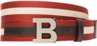Bally Men's B-Buckle Webbing Belt