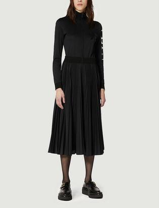 Valentino Funnel-neck sequin-embellished crepe midi dress