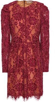 MICHAEL Michael Kors Ruched Corded Lace Mini Dress