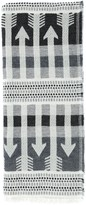 Mackage Aro Unisex Extra-Long Jacquard Scarf In Grey