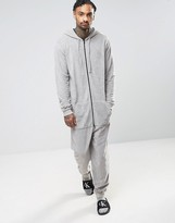 Asos Onesie In Grey Towelling