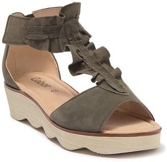Gabor Ruffle T-Strap Sandal