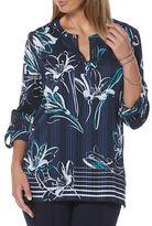 Rafaella Printed Lace Blouse