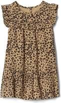 Cheetah ruffle dress