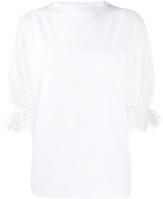 Givenchy point d'Esprit sleeved T-shirt