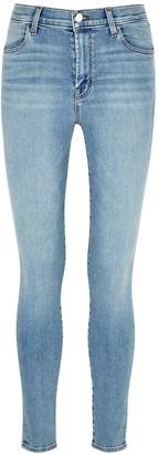 J Brand Maria blue high-rise skinny jeans
