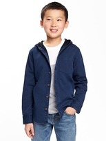 Old Navy Hooded Indigo Shirt for Boys