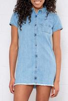 Element Denim Shirt Dress
