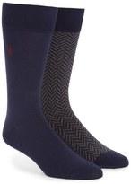 Polo Ralph Lauren 2-Pack Cotton Blend Socks