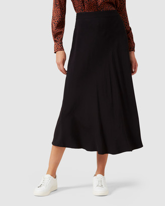 French Connection Fluted Midi Skirt